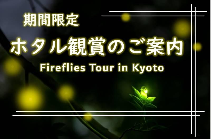 【開催中止】京都で夏を先取り、ホタル観賞へご案内(先着順)